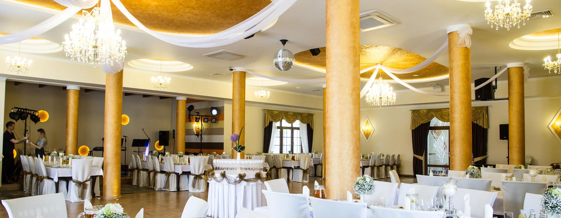 Sala weselna na 160 osób. Joanna Restauracja&Hotel w Kątach Opolskich